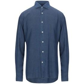 《セール開催中》CALIBAN メンズ デニムシャツ ダークブルー 38 指定外繊維(テンセル) 100%