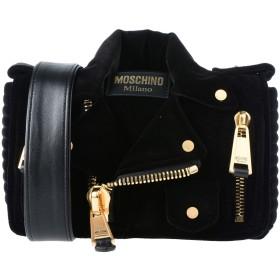 《期間限定 セール開催中》MOSCHINO レディース メッセンジャーバッグ ブラック 紡績繊維