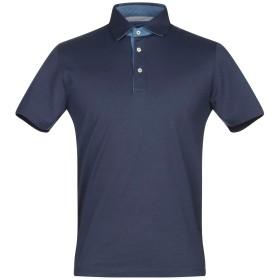 《期間限定セール開催中!》VIADESTE メンズ ポロシャツ ダークブルー 50 コットン 100%