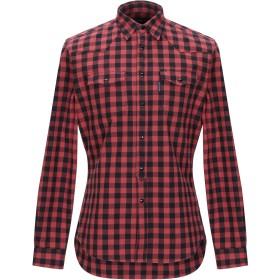 《期間限定セール開催中!》HYDROGEN メンズ シャツ レッド S コットン 100%