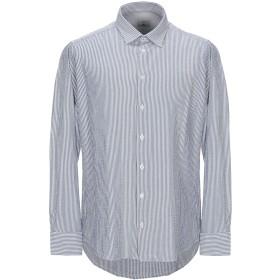 《セール開催中》BASTONCINO メンズ シャツ ブルー 38 コットン 100%