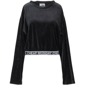 《期間限定セール開催中!》CHEAP MONDAY レディース スウェットシャツ ブラック XS コットン 76% / ポリエステル 24%