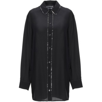 《セール開催中》BOUTIQUE MOSCHINO レディース シャツ ブラック 38 シルク 100%