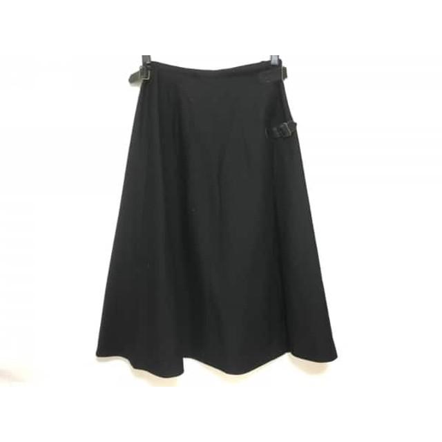【中古】 カネコイサオ KANEKO ISAO 巻きスカート レディース 黒