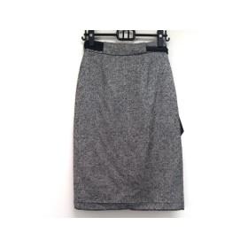 【中古】 アンナモリナーリ ANNA MOLINARI スカート サイズ40(I) M レディース ライトグレー 黒