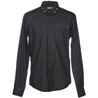 《セール開催中》VERSACE JEANS メンズ シャツ ブラック 48 コットン 100%