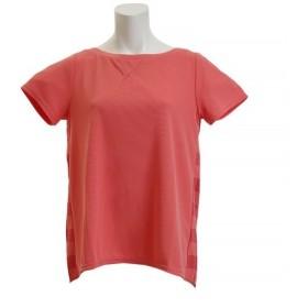 ダンスキン(DANSKIN) SO COOL ワイドネックTシャツ DB78217 RE (Lady's)