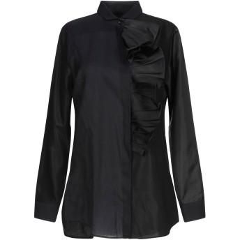 《9/20まで! 限定セール開催中》BAGUTTA レディース シャツ ブラック 44 コットン 60% / レーヨン 40%