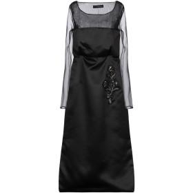 《期間限定 セール開催中》ALESSANDRO DELL'ACQUA レディース 7分丈ワンピース・ドレス ブラック 36 ポリエステル 100%