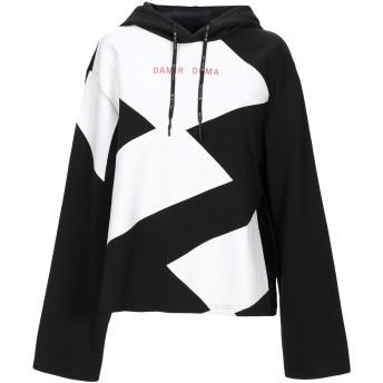 《期間限定セール開催中!》DAMIR DOMA x LOTTO レディース スウェットシャツ ブラック S ポリエステル 62% / コットン 38%