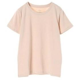 イーハイフンワールドギャラリー E hyphen world gallery クルーネックTシャツ (Pink Beige)