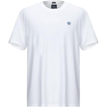 《9/20まで! 限定セール開催中》NORTH SAILS メンズ T シャツ ホワイト S コットン 100%