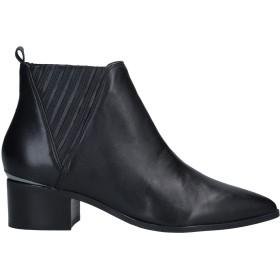 《期間限定セール開催中!》GUESS レディース ショートブーツ ブラック 37 革 / 紡績繊維