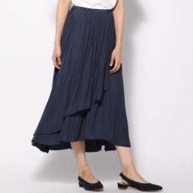ケティシェリー(ketty cherie)/割繊サテンアシメギャザースカート