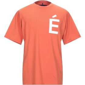 《セール開催中》TUDES STUDIO メンズ T シャツ 赤茶色 XS コットン 100%