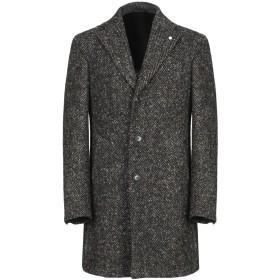 《期間限定 セール開催中》LUIGI BIANCHI ROUGH メンズ コート グリーン 48 ウール 100%
