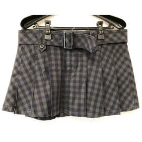 【中古】 ヒステリックグラマー ミニスカート サイズM レディース ダークグレー ダークネイビー