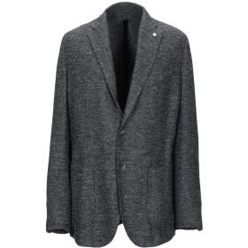 《セール開催中》LUIGI BIANCHI ROUGH メンズ テーラードジャケット スチールグレー 56 ウール 60% / ポリエステル 21% / ナイロン 11% / レーヨン 8%