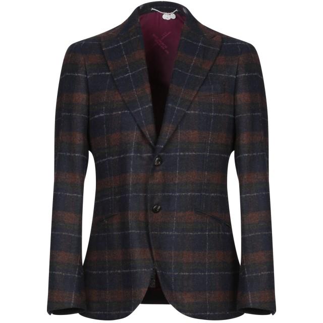 《セール開催中》MAURIZIO MIRI メンズ テーラードジャケット ブルー 50 毛(アルパカ) 80% / ナイロン 20%