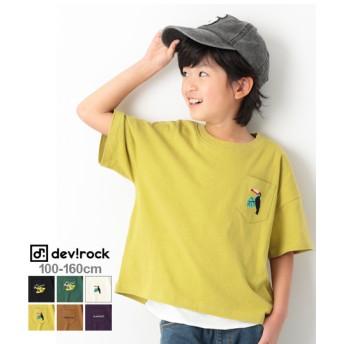 devirock デビロック ロゴ刺繍BIGシルエット Tシャツ レディース