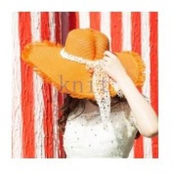 帽子レディース夏新作ストローハット麦わら帽子ビーチハットUVカット日よけ紫外線対策日焼け対策リゾート海辺可愛いリボンJZAH1-