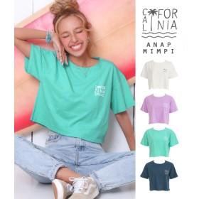 【セール開催中】ANAP(アナップ)パームツリープリントショート丈Tシャツ