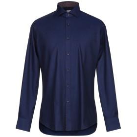 《期間限定 セール開催中》XACUS メンズ シャツ ブルー 40 コットン 100%