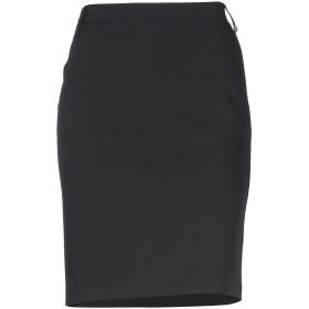 《期間限定セール開催中!》X'S MILANO レディース ひざ丈スカート ブラック 44 ポリエステル 95% / ポリウレタン 5%