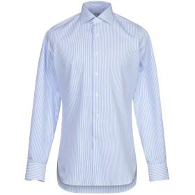《期間限定セール開催中!》MICHEAL KURRIER Milano メンズ シャツ スカイブルー 40 コットン 100%