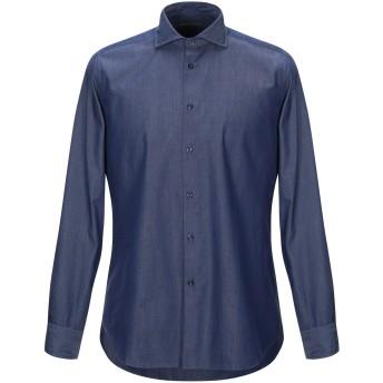 《期間限定セール開催中!》DANIELE ALESSANDRINI メンズ デニムシャツ ブルー 41 コットン 100%