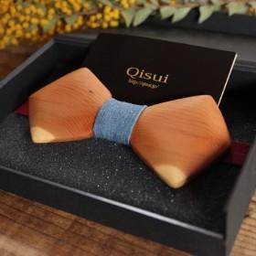 木製蝶ネクタイ 素材:いちい