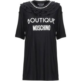 《期間限定 セール開催中》BOUTIQUE MOSCHINO レディース T シャツ ブラック 36 レーヨン 100%