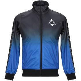 《セール開催中》MARCELO BURLON x KAPPA メンズ スウェットシャツ ブルー XS ポリエステル 100%