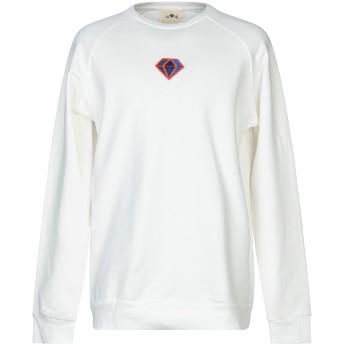 《期間限定セール開催中!》ALONE メンズ スウェットシャツ ホワイト XL コットン 100%