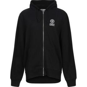 《セール開催中》FRANKLIN & MARSHALL メンズ スウェットシャツ ブラック S コットン 50% / ポリエステル 50%