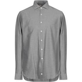 《期間限定 セール開催中》ALESSANDRO GHERARDI メンズ シャツ 鉛色 43 コットン 100%