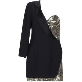 《送料無料》SIMONA CORSELLINI レディース ミニワンピース&ドレス ブラック 46 アセテート 78% / レーヨン 22% / ポリエステル / ナイロン
