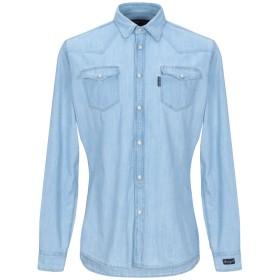《期間限定セール開催中!》HYDROGEN メンズ デニムシャツ ブルー S コットン 100%