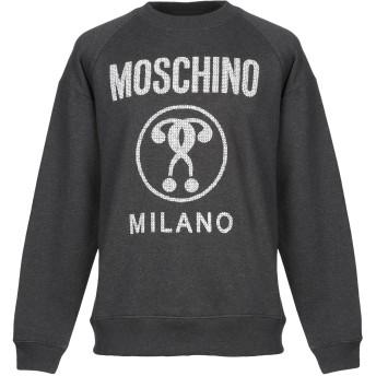 《9/20まで! 限定セール開催中》MOSCHINO メンズ スウェットシャツ 鉛色 48 コットン 100%