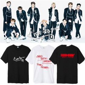 国内発送 韓国ファッションNCT127专辑AWAKEN応援Tシャツ/男女兼用安い綿100%Tシャツ/ NCT127着用 公式グッズ