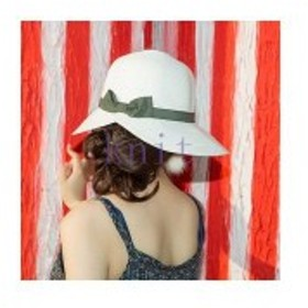 帽子レディース夏新作ストローハット麦わら帽子ハットUVカット日よけ紫外線対策日焼け対策リゾート海辺可愛いリボンJZAH1-AL3