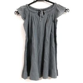 【中古】 ボンポワン Bonpoint ワンピース サイズ4 XL レディース グレー 子供服
