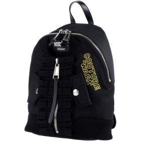《セール開催中》MOSCHINO レディース バックパック&ヒップバッグ ブラック 革 / 紡績繊維