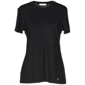 《期間限定 セール開催中》VERSACE COLLECTION レディース T シャツ ブラック 40 96% レーヨン 4% ポリウレタン ポリエステル