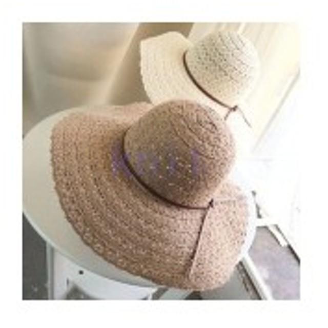 帽子レディース夏新作ストローハット麦わら帽子ビーチハットハットUVカット日よけ紫外線対策日焼け対策リゾート海辺可愛い小顔効果JZ