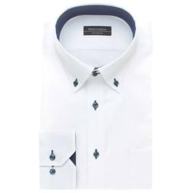 夏サラ形態安定スリムドレスシャツ(メンズ) モノト-ンA