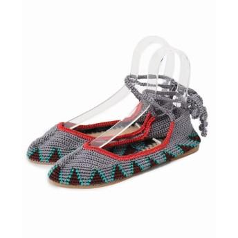 journal standard luxe 【KASHURA / カシュラ】Crochet Ballerina◆ グレーB 36