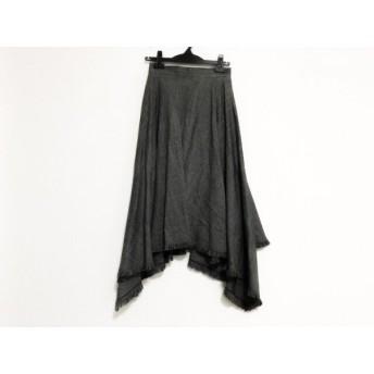 【中古】 ルシェルブルー LE CIEL BLEU ロングスカート サイズ36 S レディース ライトグレー 黒