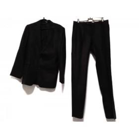 【中古】 プラチナコムサ シングルスーツ サイズ48 XL メンズ ダークグレー 黒 ストライプ