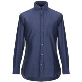《期間限定セール開催中!》GIAMPAOLO メンズ シャツ ブルー 38 コットン 100%